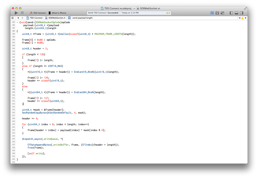 ted xcode